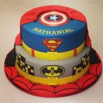 Superhero Birthday Cake Two Tier Super Hero Cake Boys Birthday Cakes Celebration Cakes