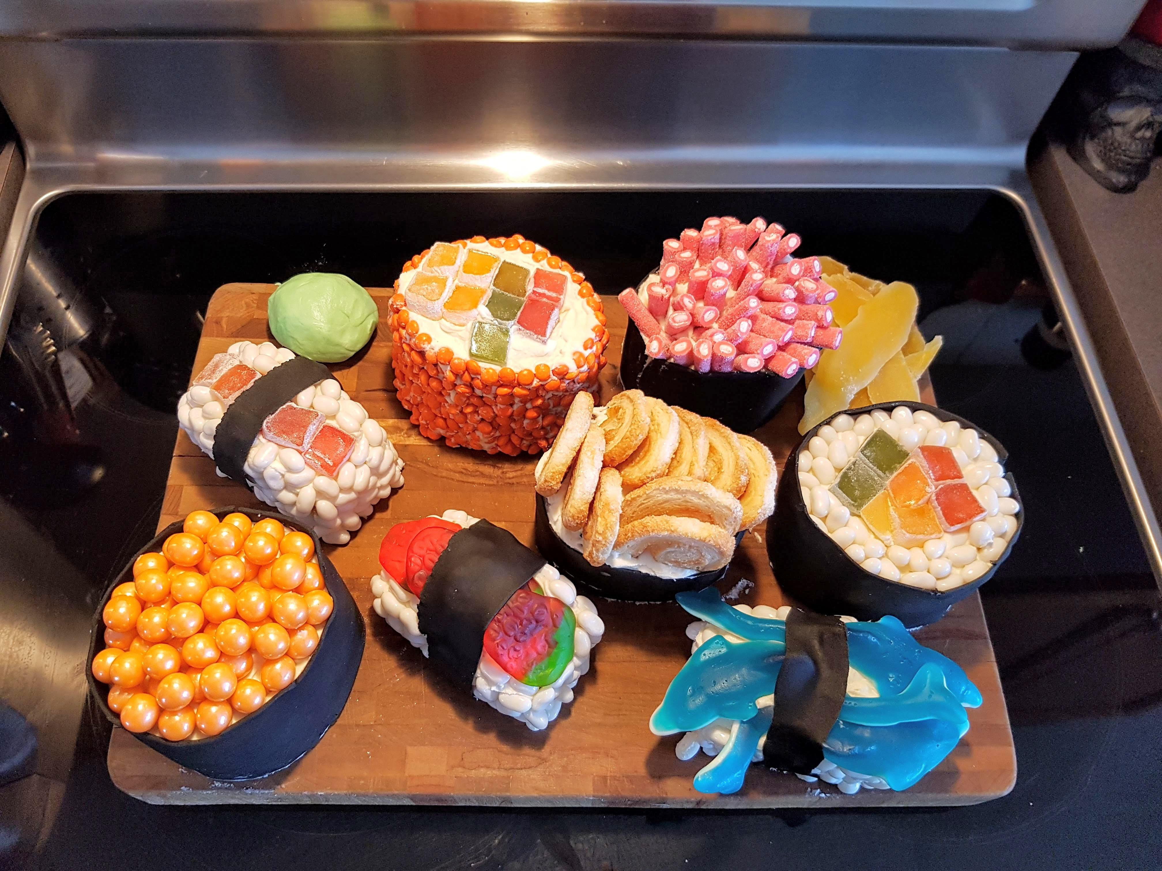 Sushi Birthday Cake I Think My Wife Nailed Our Daughters Sushi Birthday Cake This