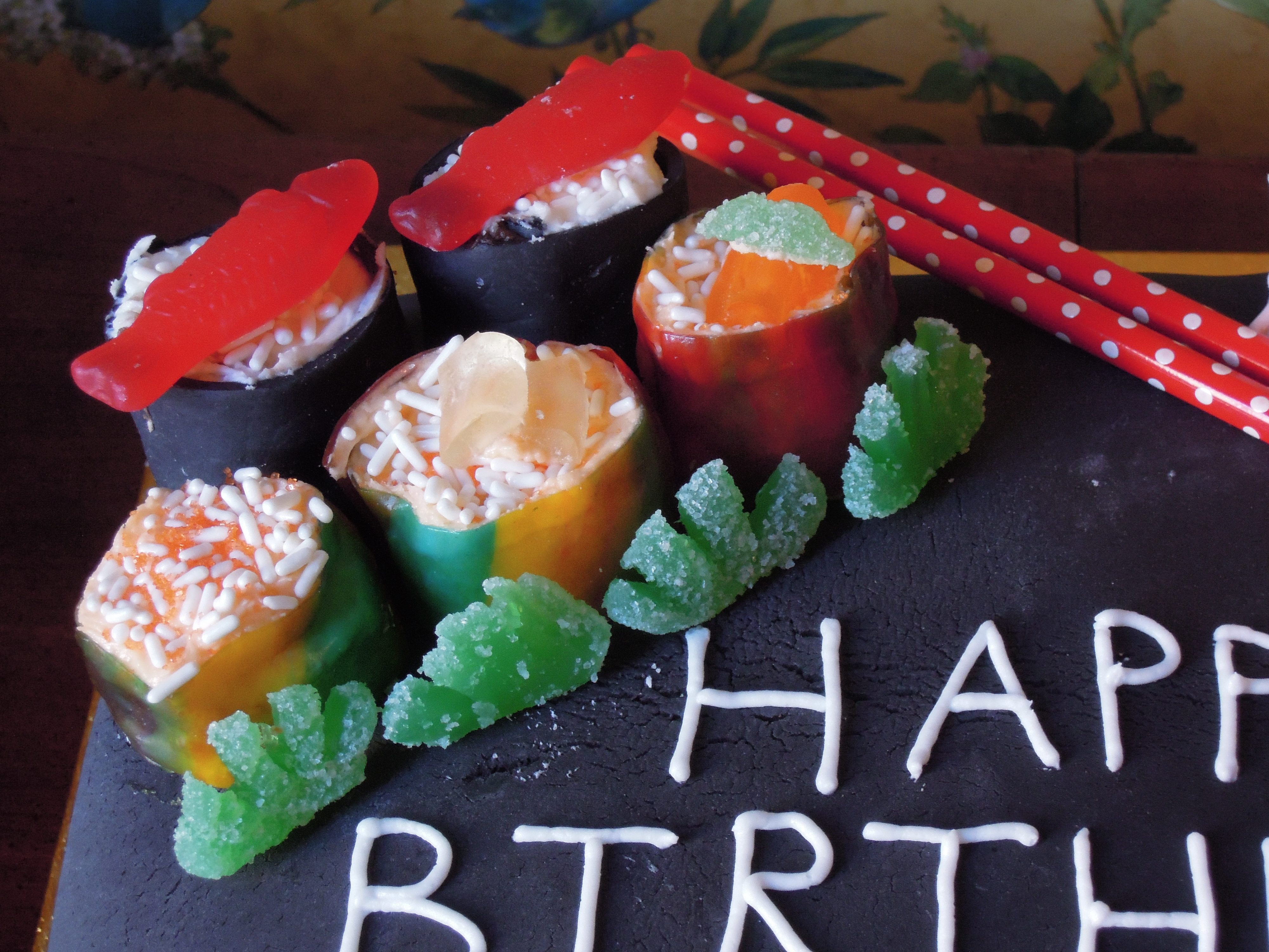 Sushi Birthday Cake Mainly Gluten Free In Nyc