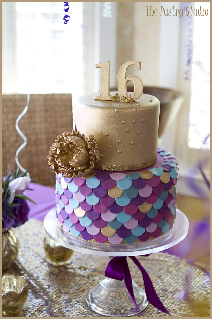 Sweet 16 Birthday Cake A Sweet 16 Birthday Celebration With A Custom Cake And Candy Bar