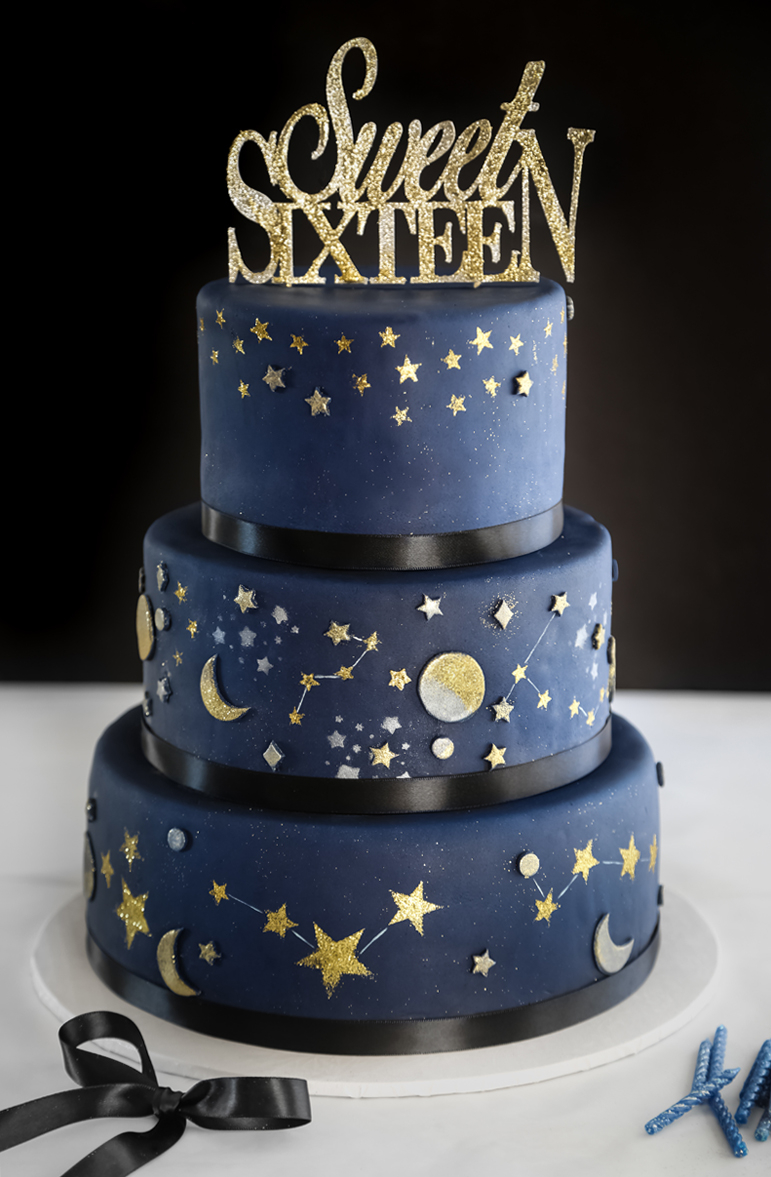 35+ Pretty Image of Sweet 16 Birthday Cake