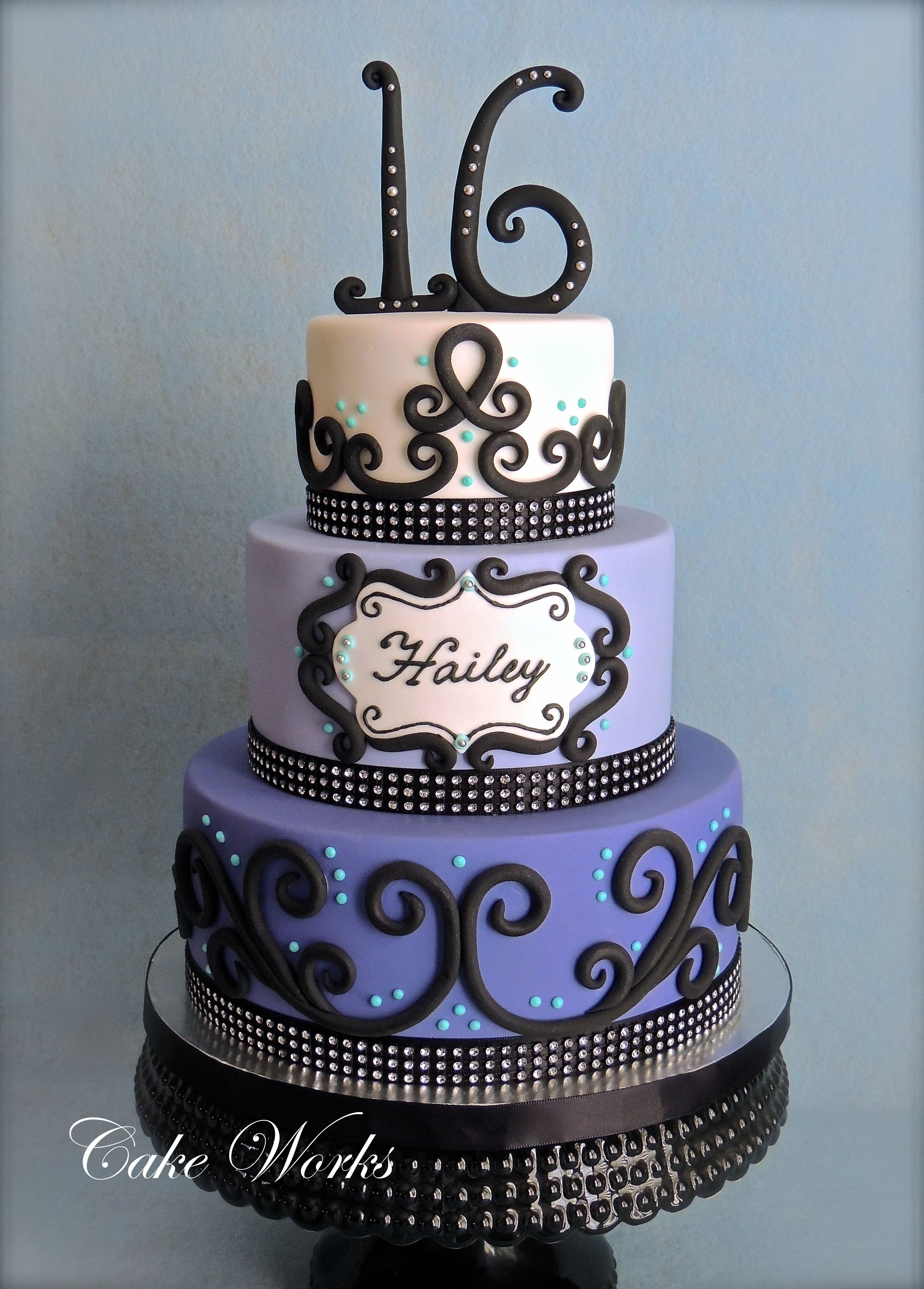 4277 In 35 Pretty Image Of Sweet 16 Birthday Cake