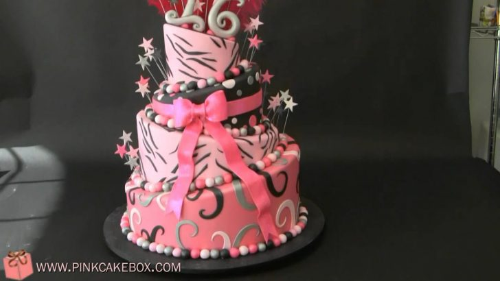 Sweet 16 Birthday Cake Sweet 16 Zebra Birthday Cake Youtube