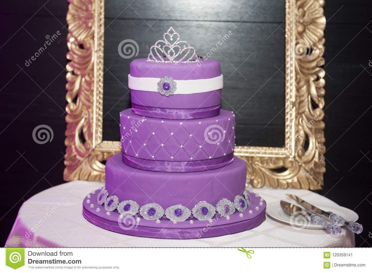 Sweet 16 Birthday Cake Sweet Sixteen Birthday Cake On A Cake Stand Stock Image Image Of