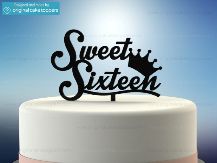 Sweet 16 Birthday Cake Sweet Sixteen Black 16th Birthday Cake Topper Original Cake
