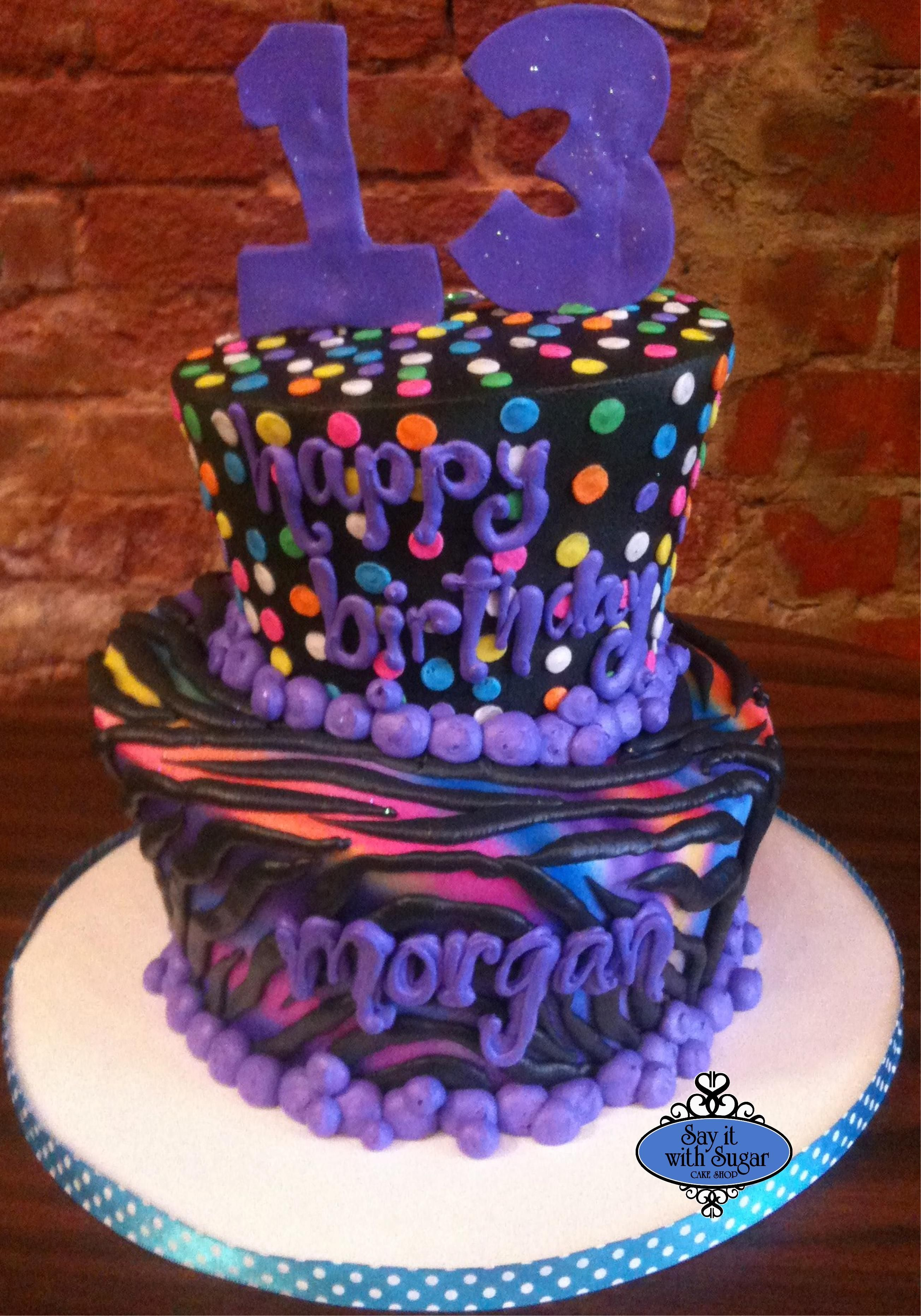 Teen Birthday Cake Colorful Teen Birthday Cakes Teen Adult Birthday Cakes Say It