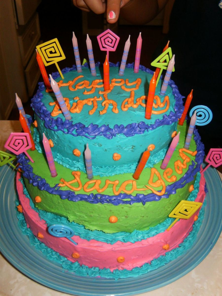 Teen Birthday Cake Colorful Teenage Girls Birthday Cake Cakecentral