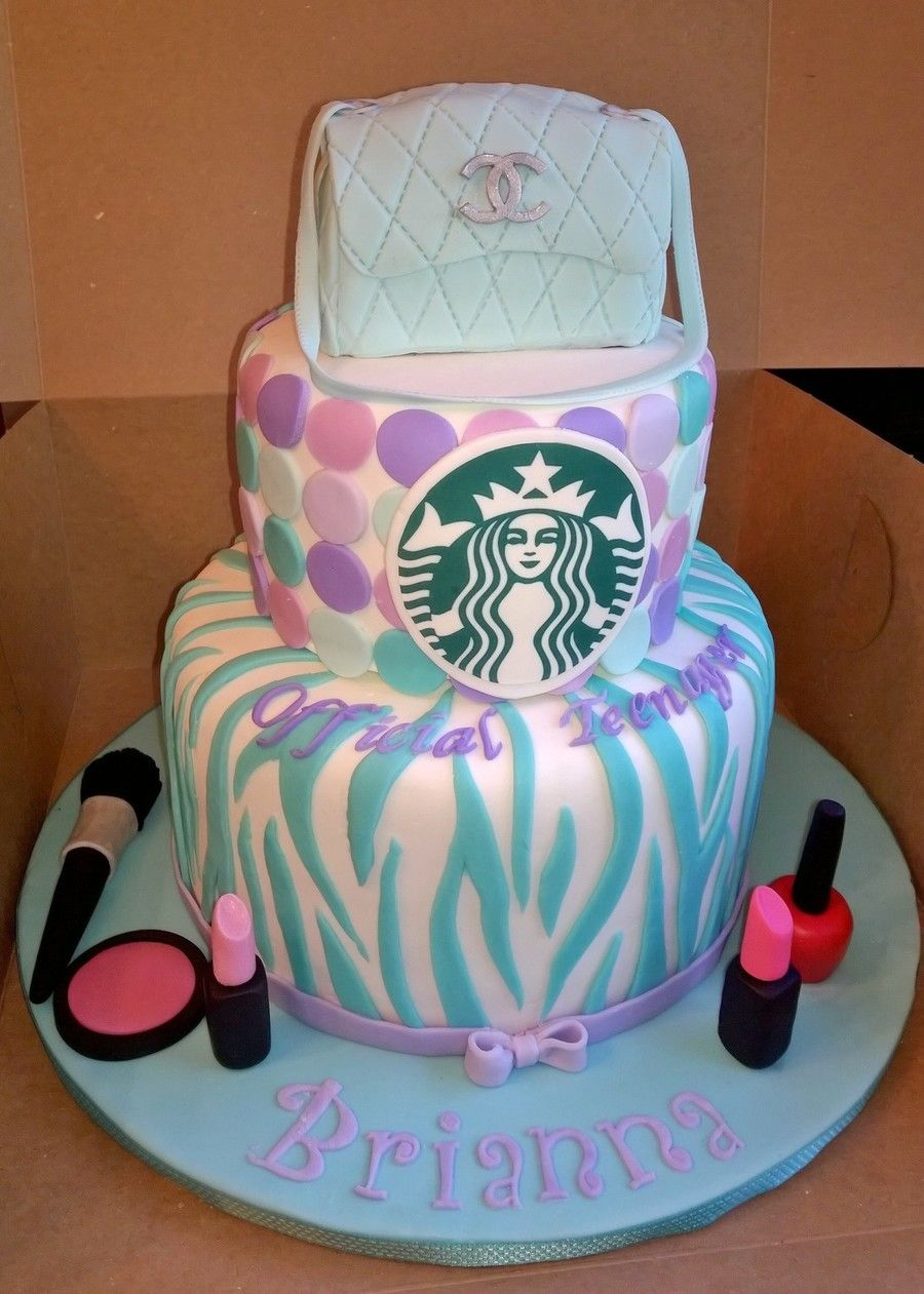 Teen Birthday Cake Official Teenager 13th Birthday Cake My Client Wanted A Teal And