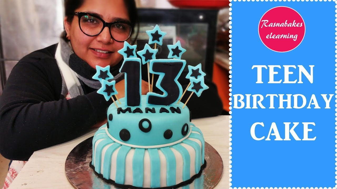 Teen Birthday Cake Teen Birthday Cake Decorating Tutorial Youtube