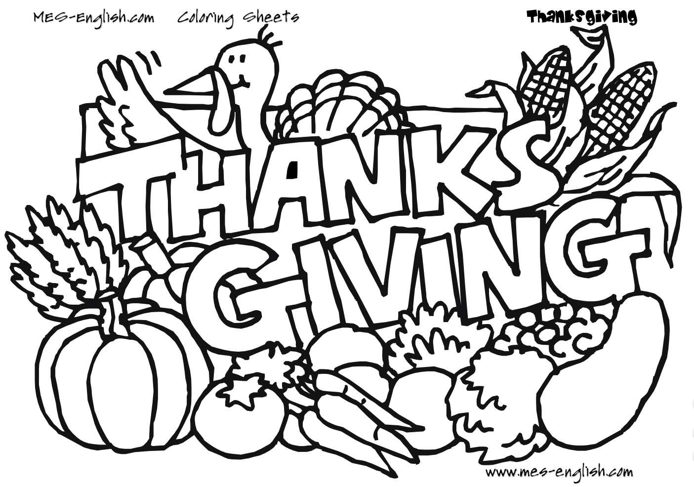 25+ Brilliant Photo of Thanksgiving Printable Coloring Pages