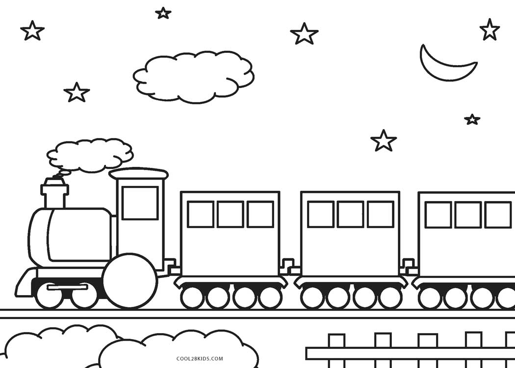 30+ Brilliant Photo of Train Coloring Pages