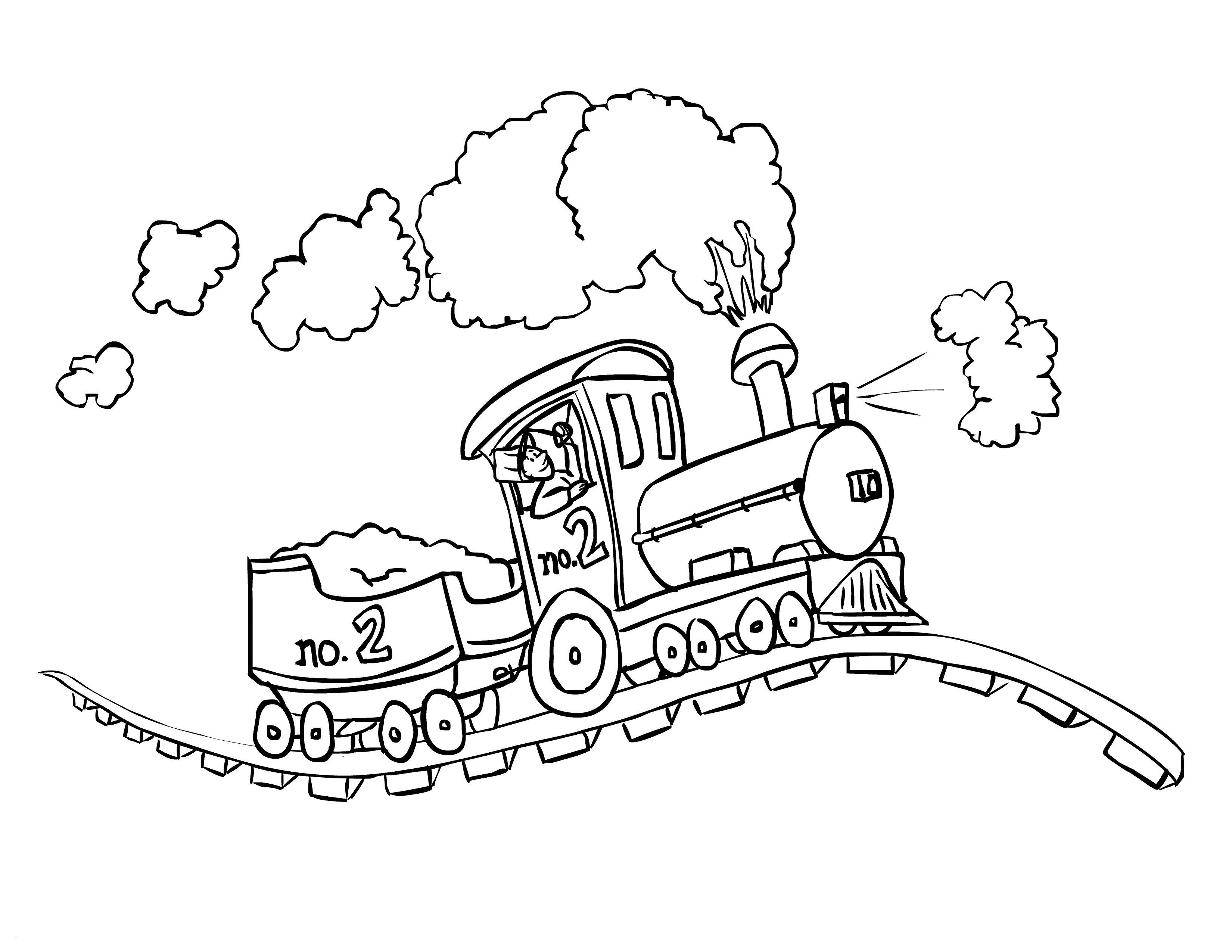 Train Coloring Pages Printable Train Coloring Pages Elegant Collection Mikalhameed Page 3