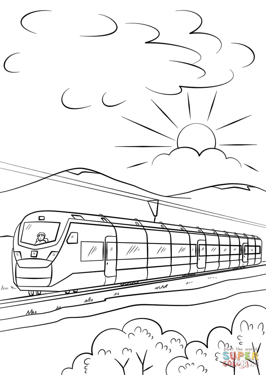 Train Coloring Pages Train Color Pages Intercity High Speed Coloring Page Free Printable