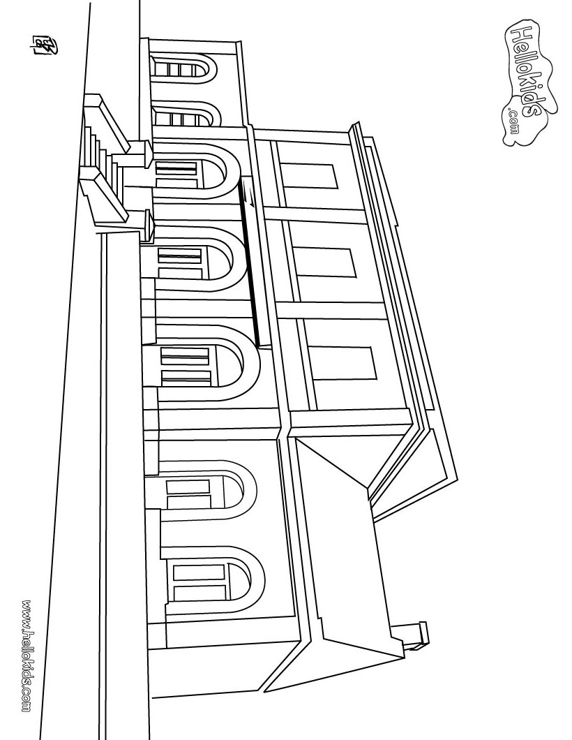 Train Coloring Pages Train Station Coloring Pages Hellokids