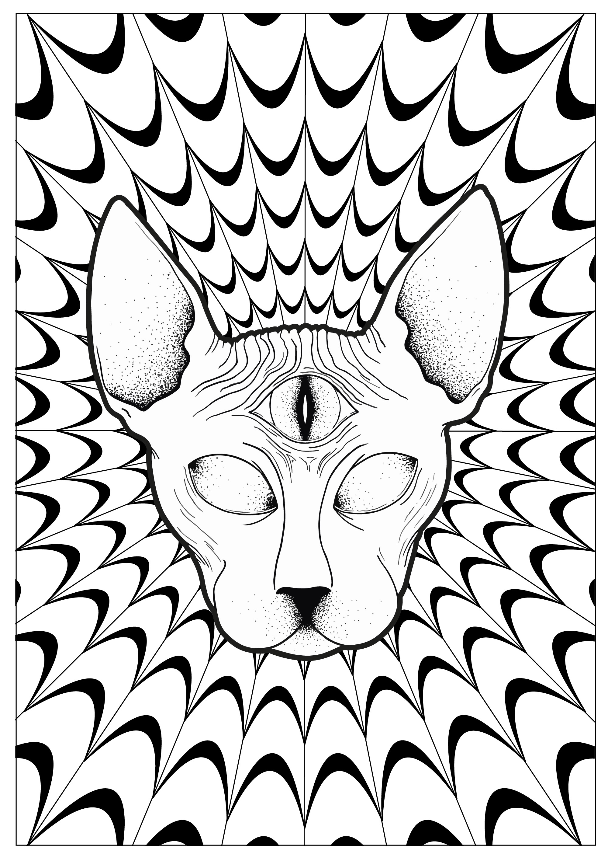 30+ Inspiration Image of Trippy Coloring Pages