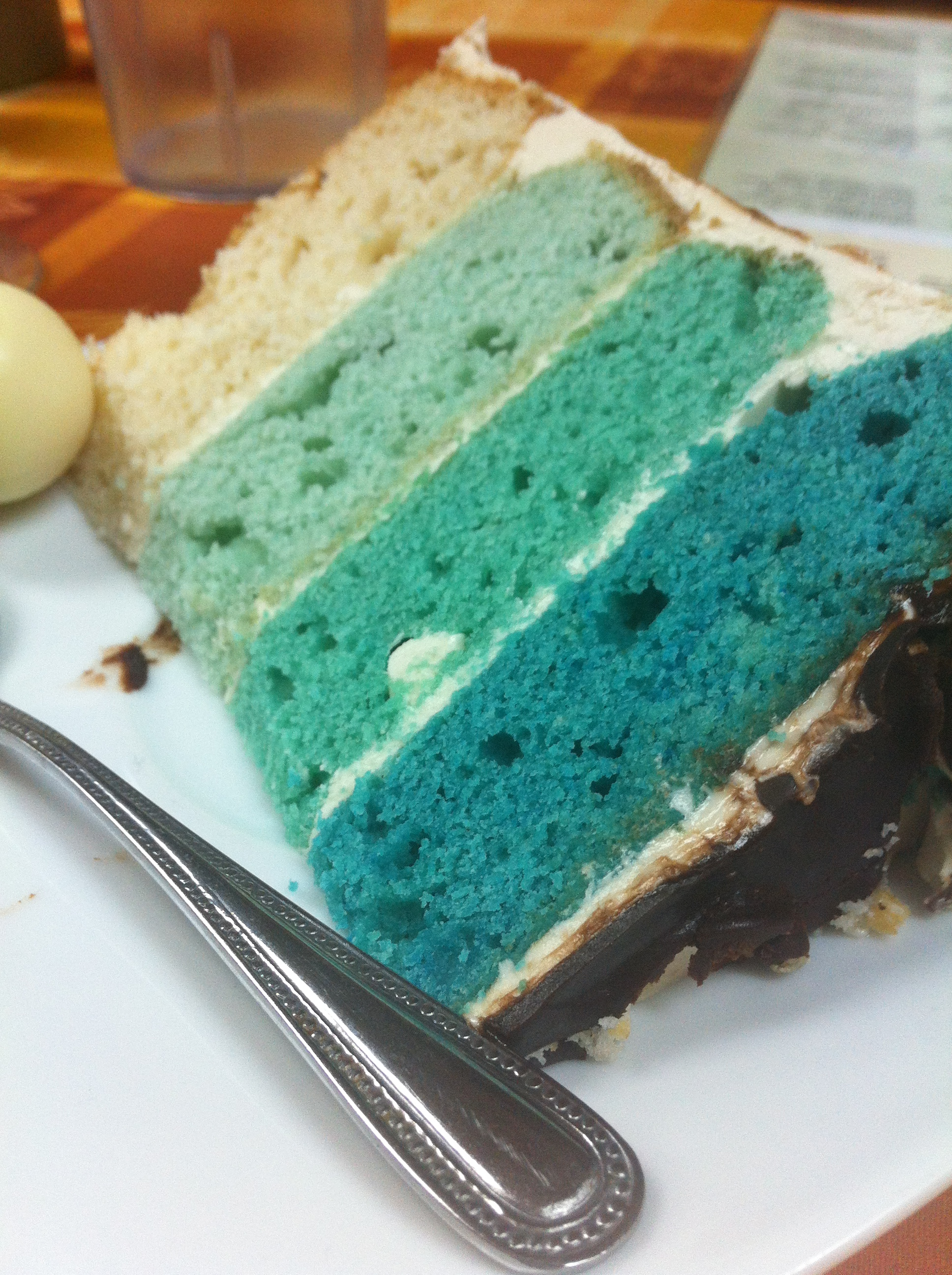 Turquoise Birthday Cake Turquoise Ombre Cake Cardio For Cakes