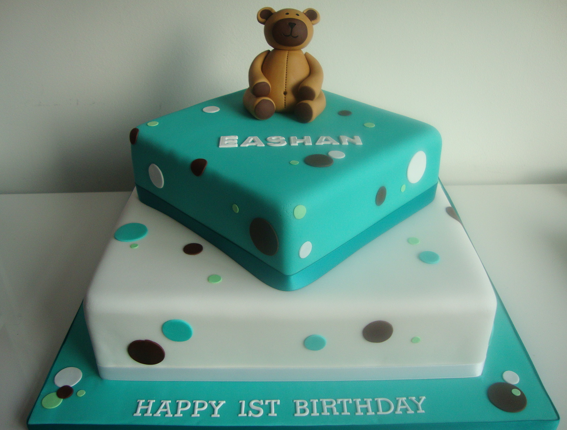 Two Tier Birthday Cake 2 Tier 1st Birthday Cake Celebration Cakes Cakeology