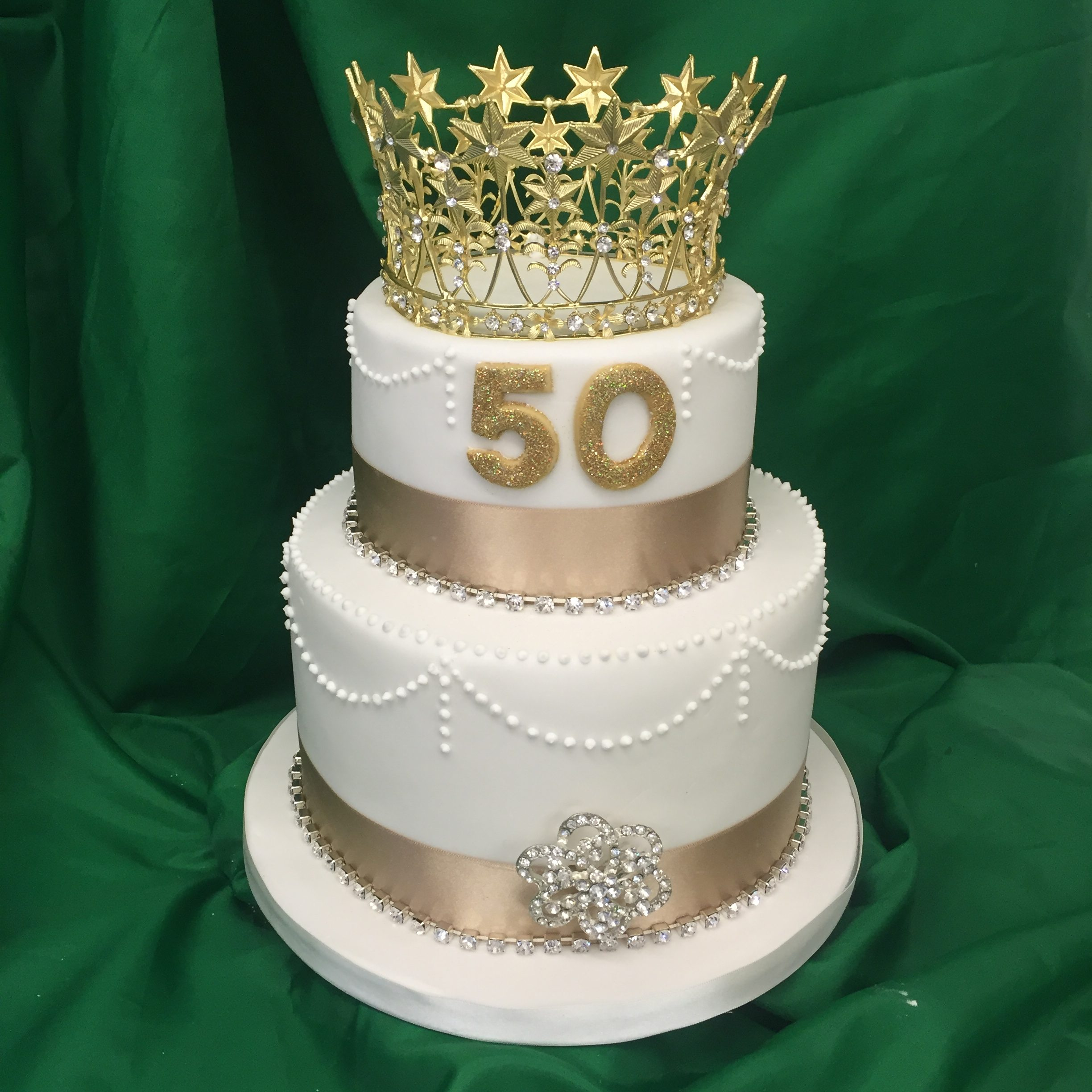 Two Tier Birthday Cake 2 Tier 50th Birthday Cake M Rays Bakery