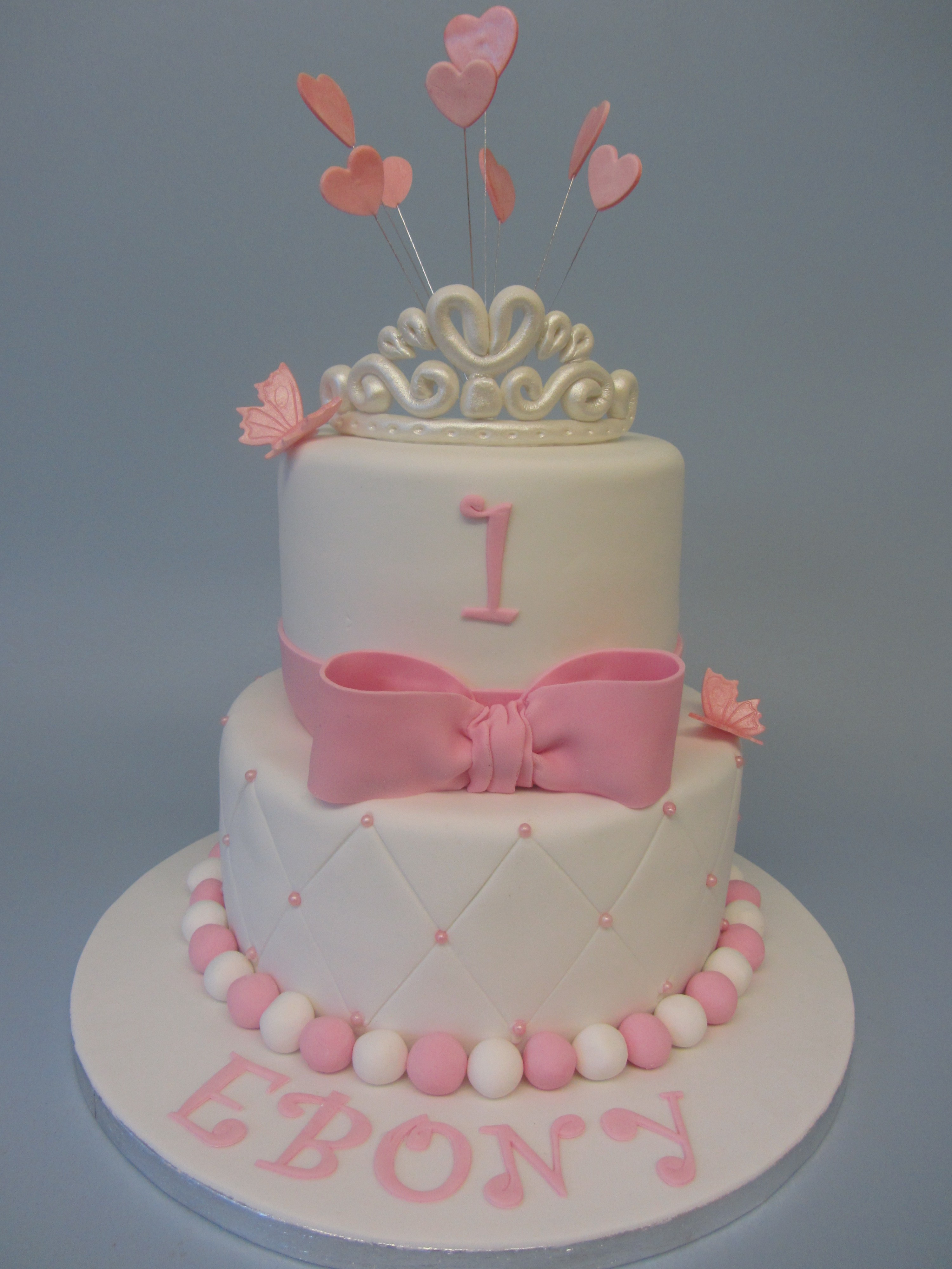 Two Tier Birthday Cake 2 Tier First Birthday Cake Delicious Dial A Cake
