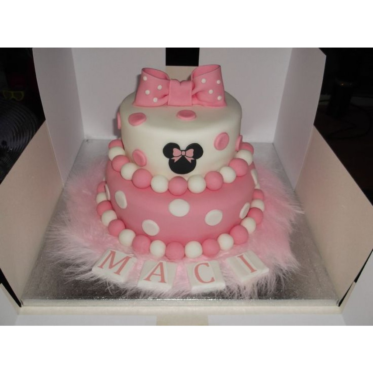 Two Tier Birthday Cake 2 Tier Fondant Birthday Cake3kg