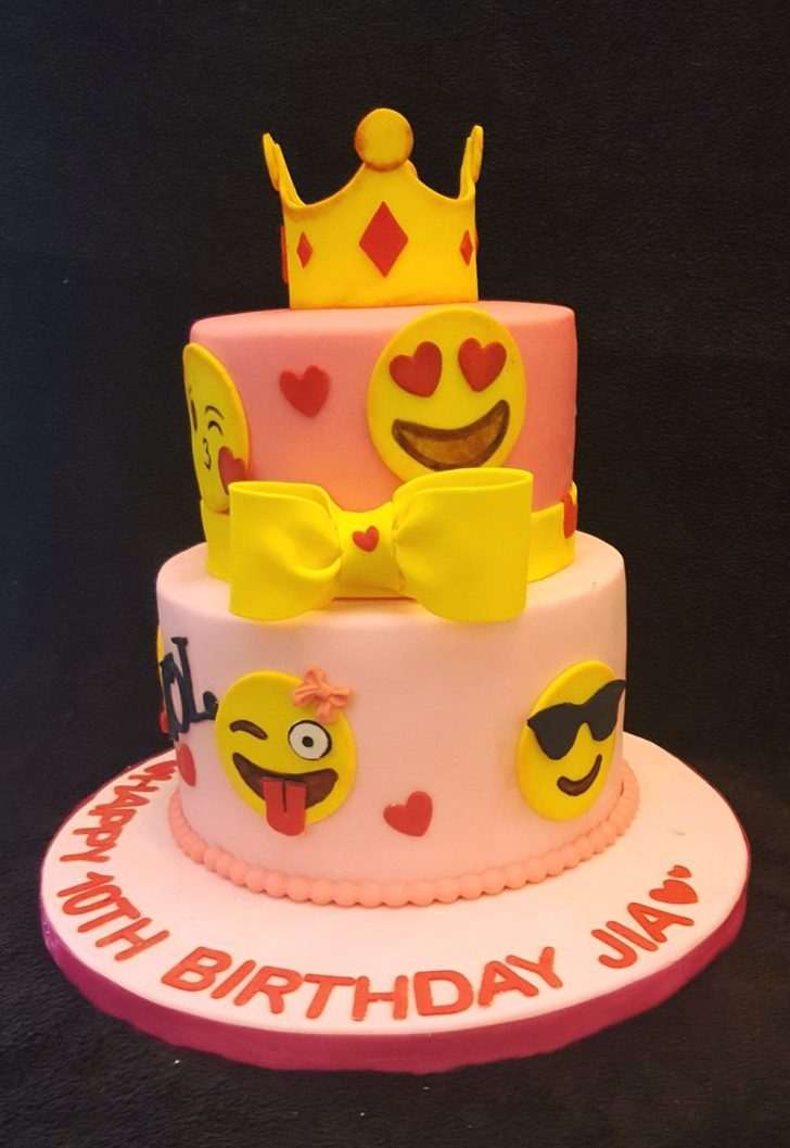 Two Tier Birthday Cake Emojis Two Tier Birthday Cake