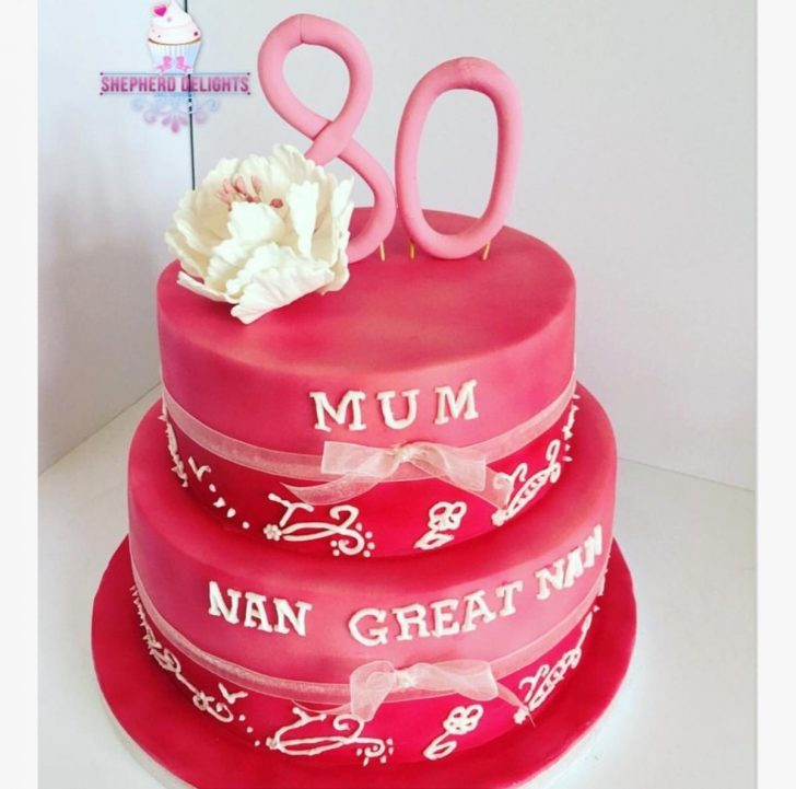 Two Tier Birthday Cake Pink Two Tier Birthday Cake Teenage Adult Birthday Cakes