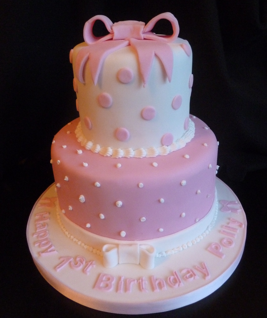 Two Tier Birthday Cake Two Tier Pink Birthday Cake Wedding Birthday Cakes From