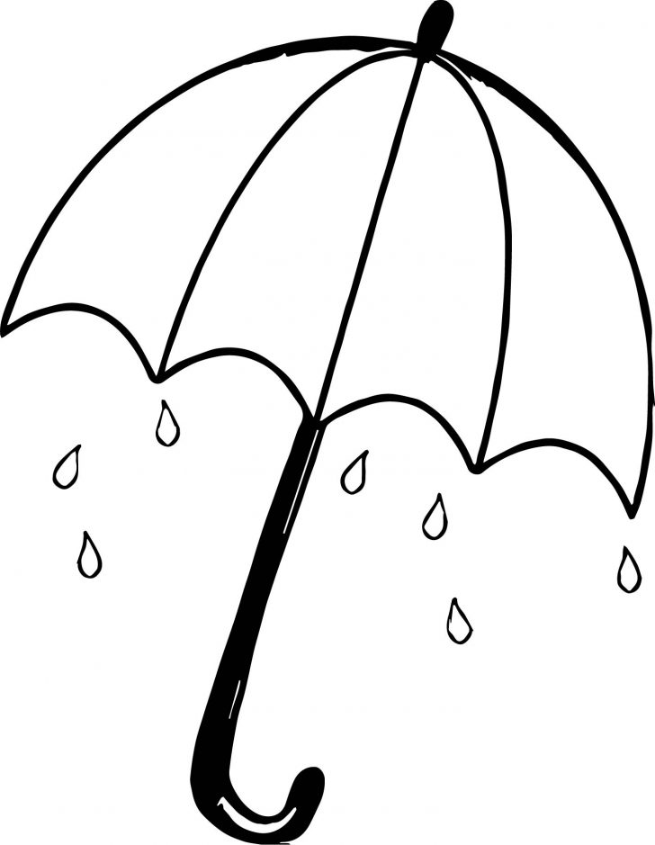 Umbrella Coloring Page April Shower Umbrella Coloring Page Wecoloringpage