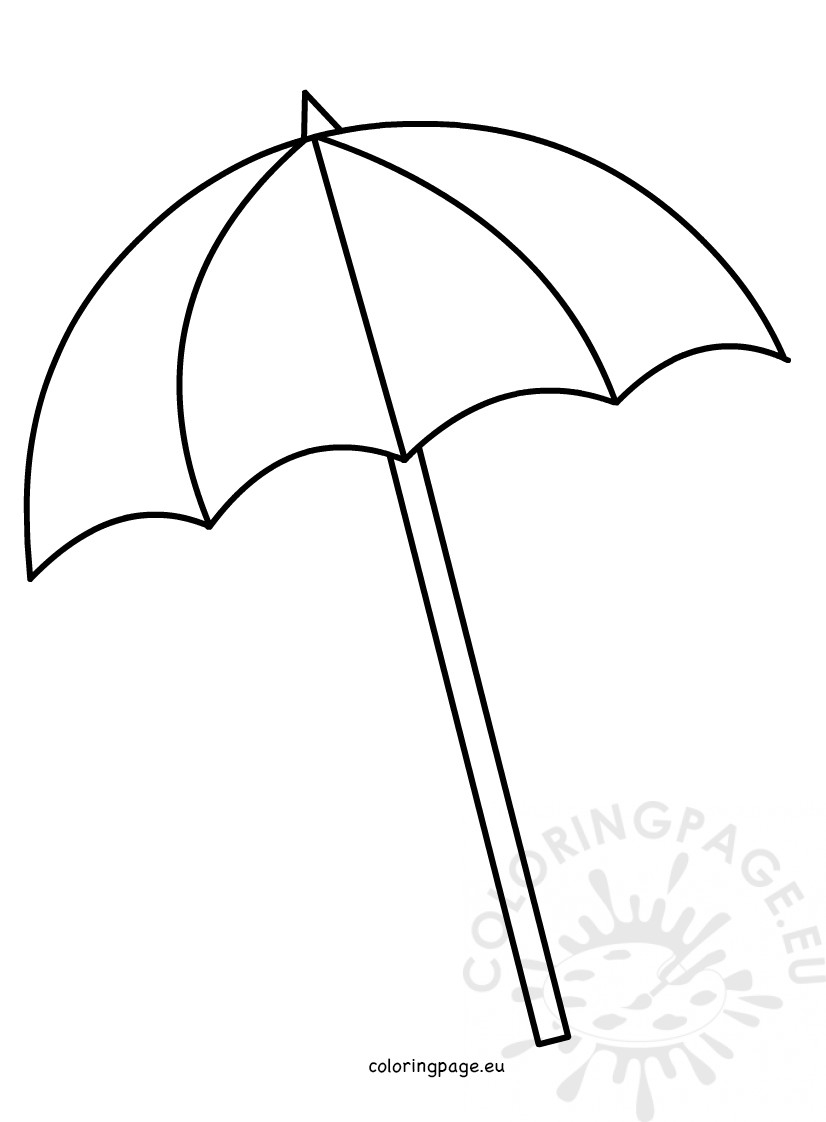 Umbrella Coloring Page Printable Umbrella Pattern Coloring Sheet Free For Preschool