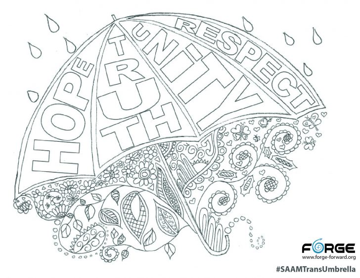 Umbrella Coloring Page Saam Trans Umbrella Coloring Page Forge
