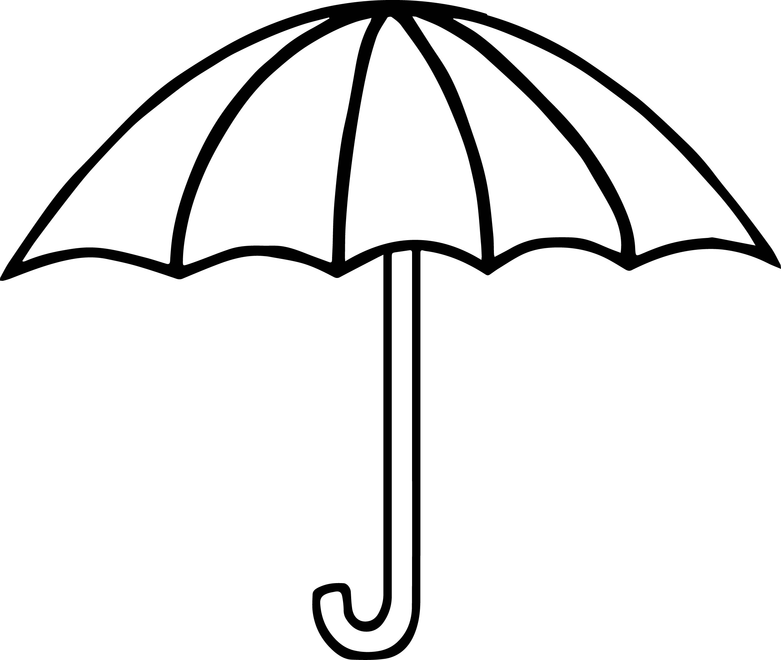 25+ Pretty Image of Umbrella Coloring Page