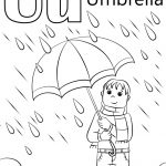 Umbrella Coloring Page U Is For Umbrella Coloring Page Free Printable Coloring Pages