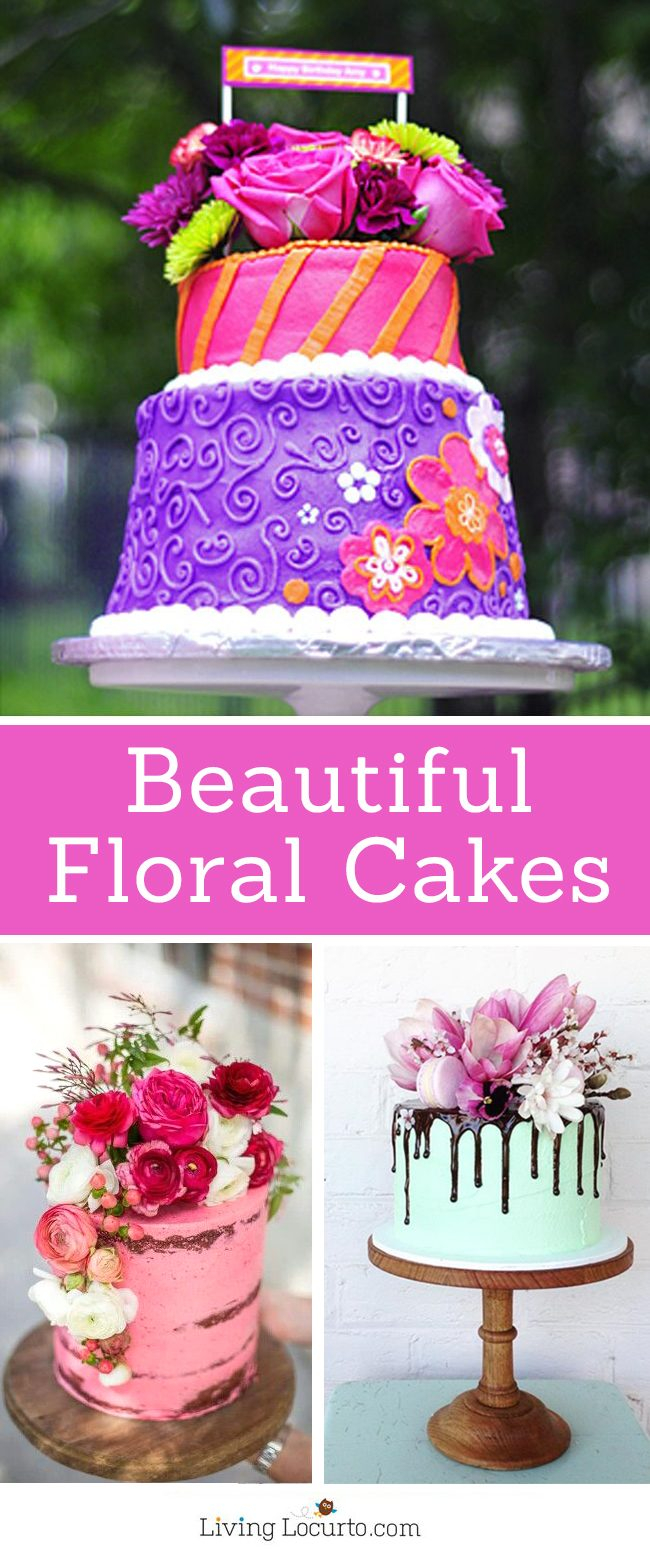 Unique Birthday Cakes Beautiful Floral Pretty Cake Ideas