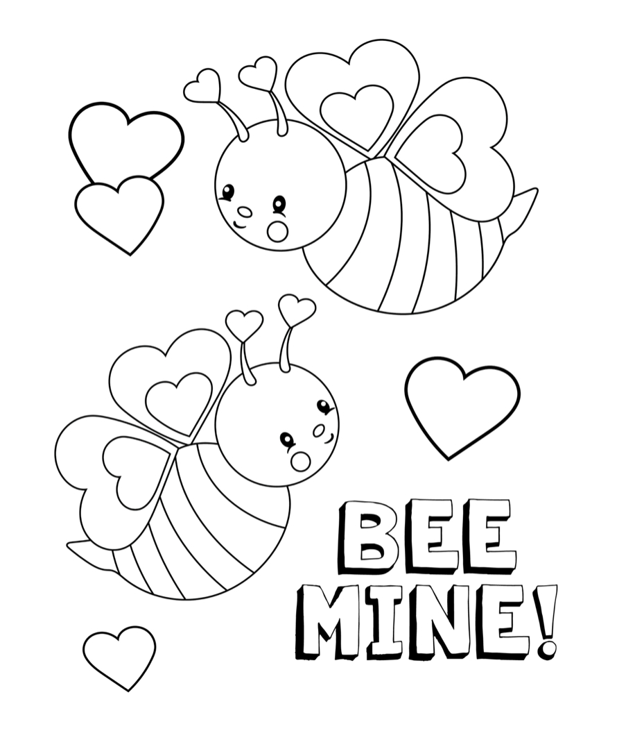 27+ Creative Picture of Valentine Coloring Pages To Print
