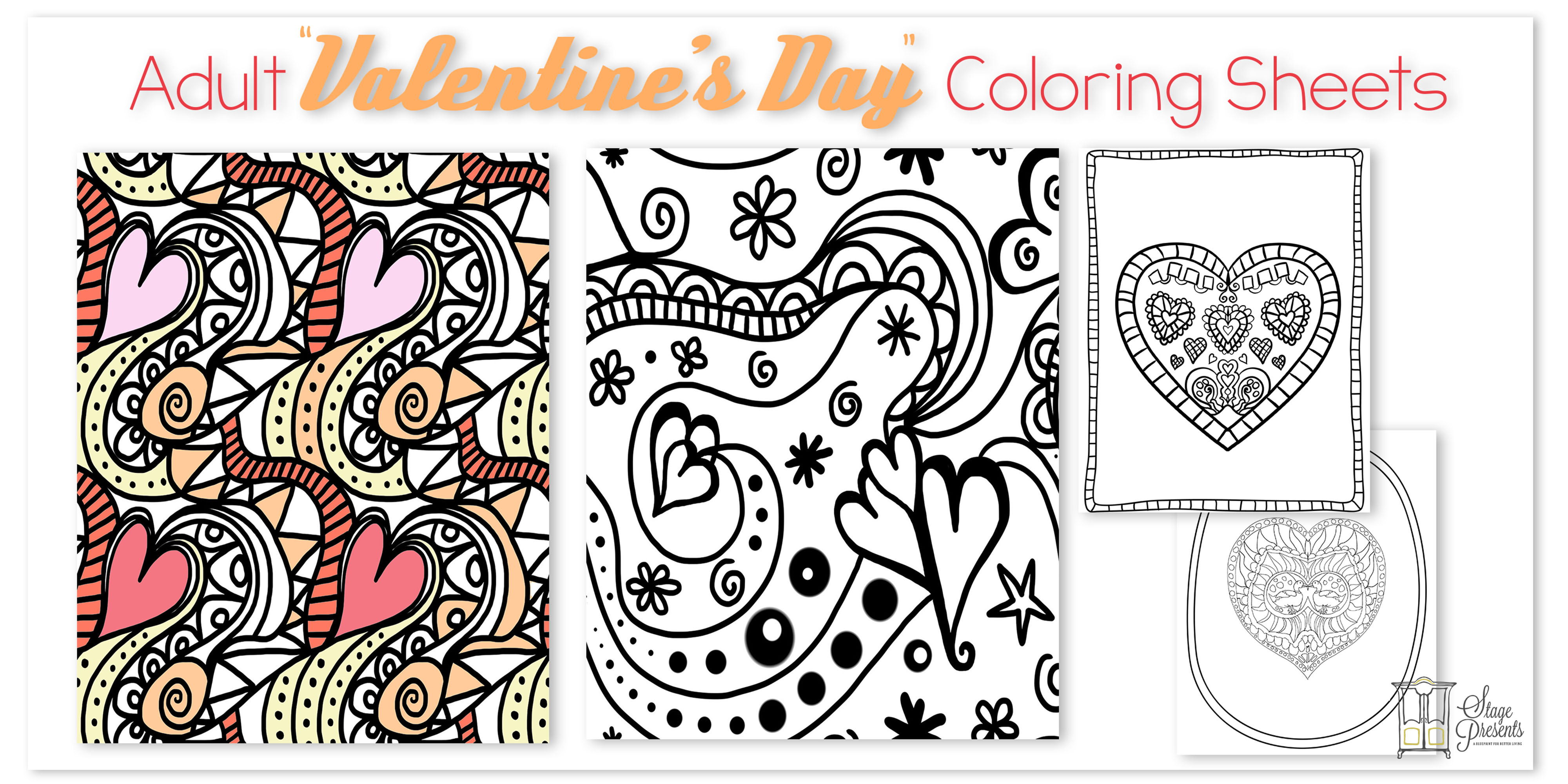 Valentines Day Coloring Pages For Adults Adult Valentines Day Coloring Sheets Stage Presents