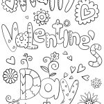 Valentines Day Coloring Pages For Adults Happy Valentines Day Coloring Page Free Printable Coloring Pages