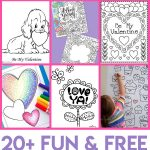 Valentines Day Coloring Pages For Adults Valentines Coloring Pages Happiness Is Homemade