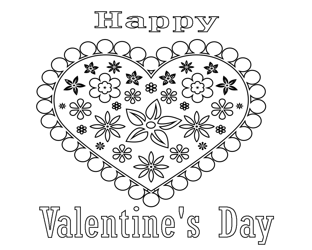 Valentines Day Coloring Pages For Adults Valentines Day Printable Coloring Pagescute Printablechristian
