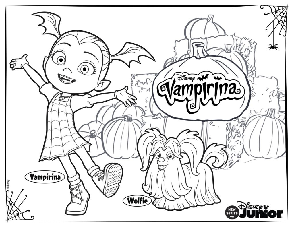 25+ Marvelous Photo of Vampirina Coloring Pages