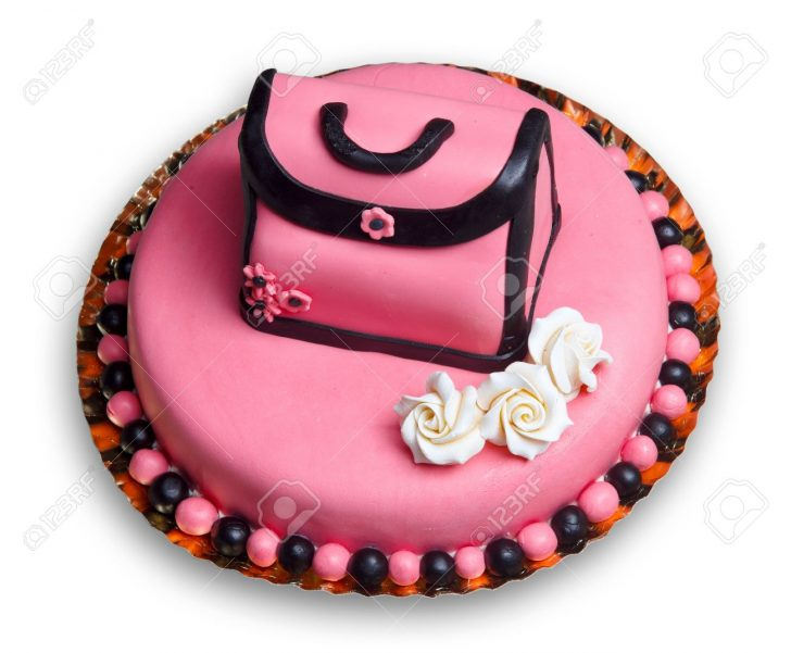 Woman Birthday Cake Birthday Cake With Pink Frostingdecorated With A Vintage Woman
