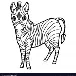 Zebra Coloring Pages Cartoon Cute Zebra Coloring Page Royalty Free Vector Image