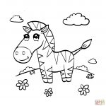 Zebra Coloring Pages Cute Zebra Coloring Page Free Printable Coloring Pages