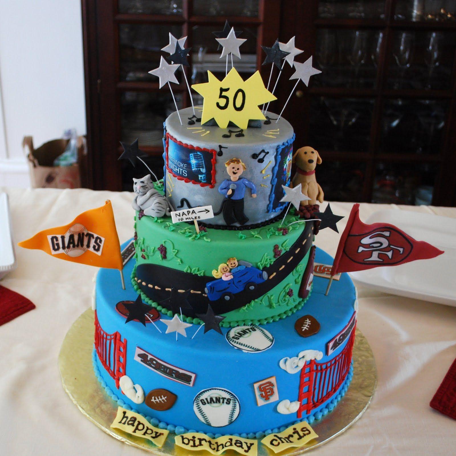 50th Birthday Cakes For Men Cake