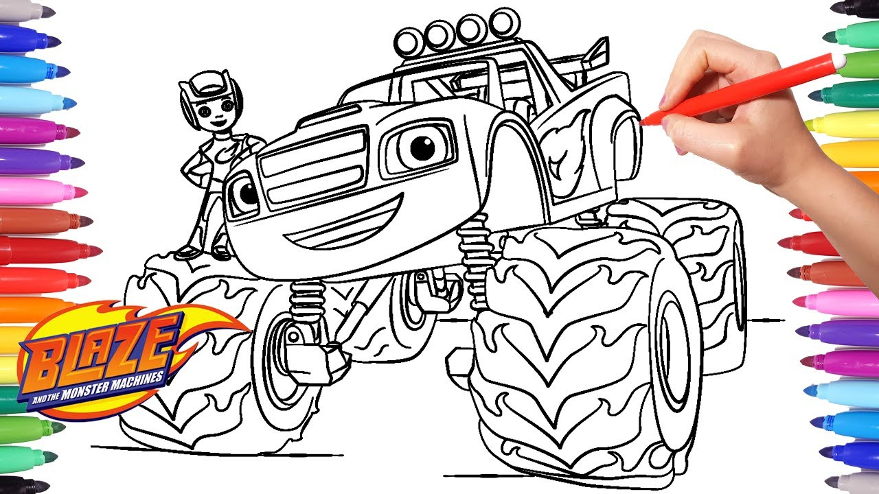 30+ Marvelous Photo of Blaze Coloring Pages ...