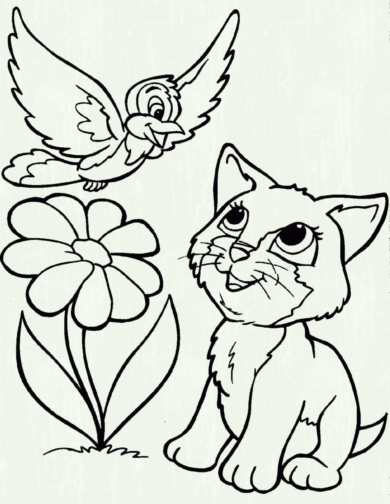 Cat Coloring Pages Printable Arts