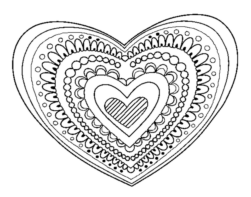 Coloring Pages Of Hearts Heart