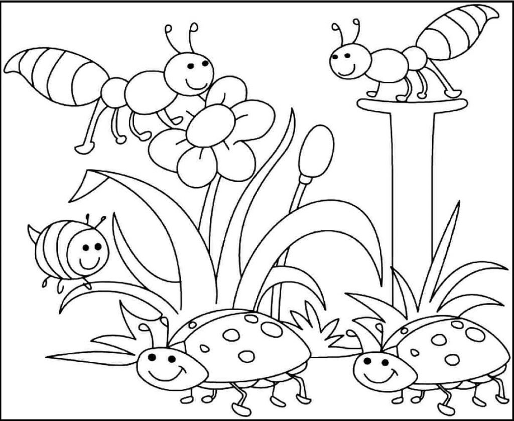 Coloring Pages Spring Perfect Springtime
