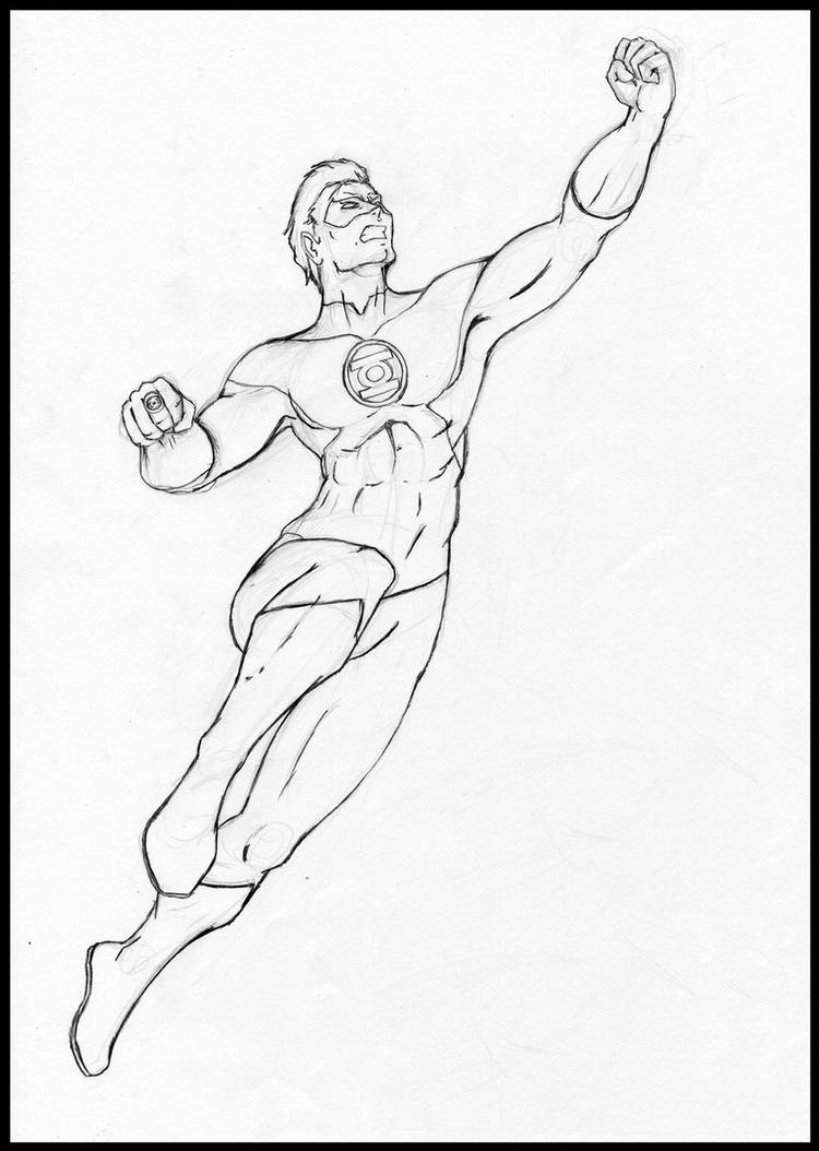 Green Lantern Coloring Pages Dc Comics Green Lantern