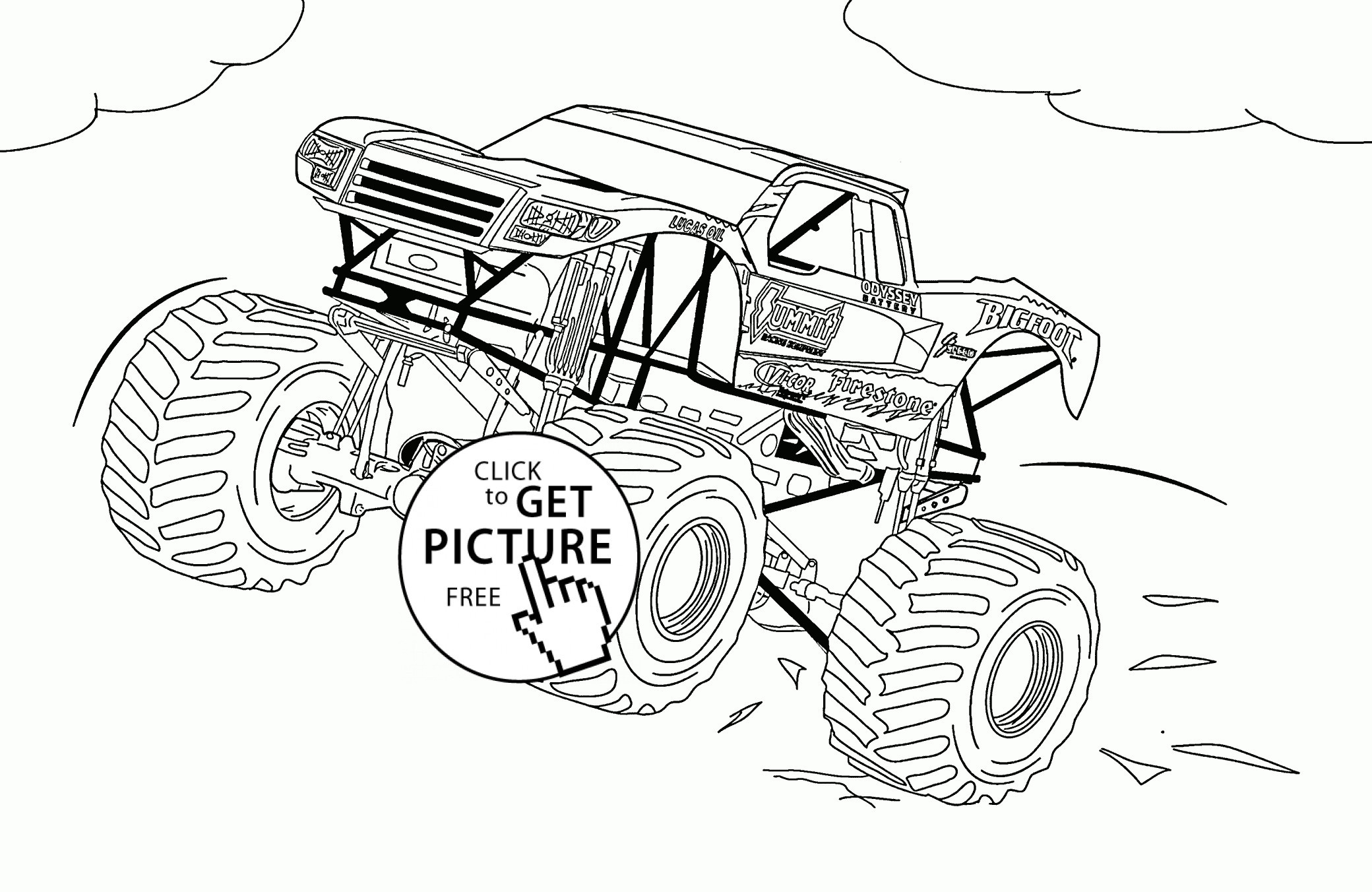 Inspiration Picture of Monster Jam Coloring Pages ...