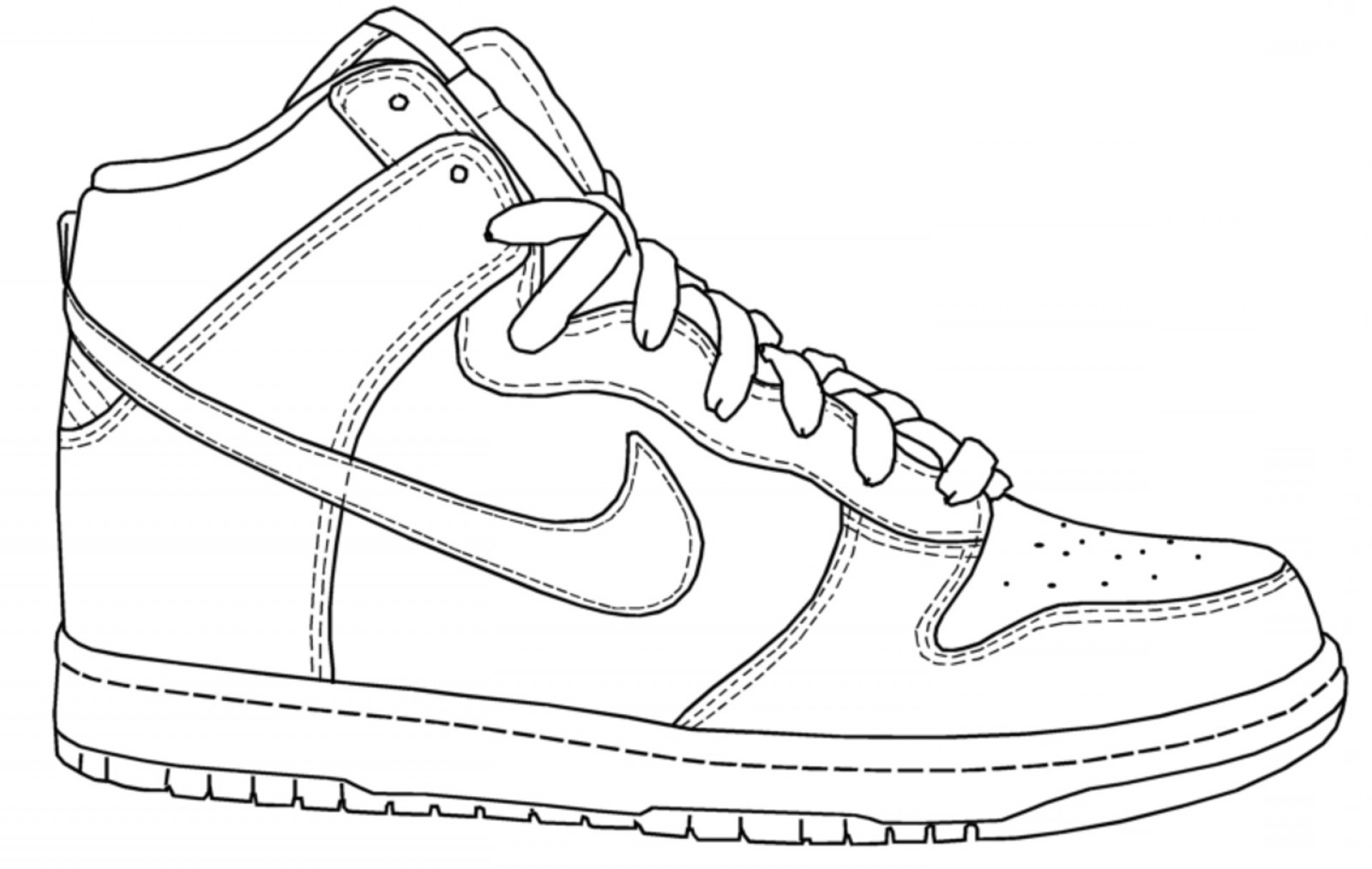 Nike Coloring Pages Gorgeous Nike Color Pages Printable In ...